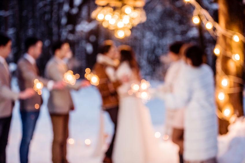 zimní svatba na Zámku